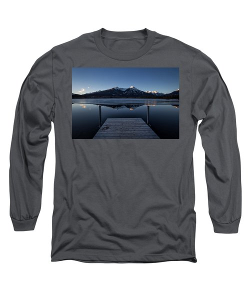 Vermillion Lakes At Dawn Long Sleeve T-Shirt