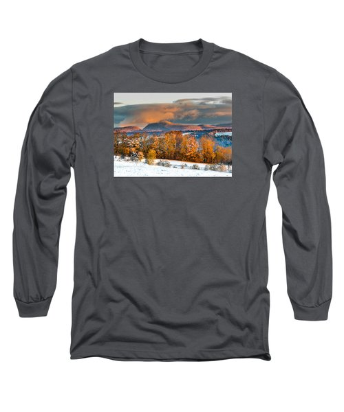 Vermont Snowliage Scene Long Sleeve T-Shirt