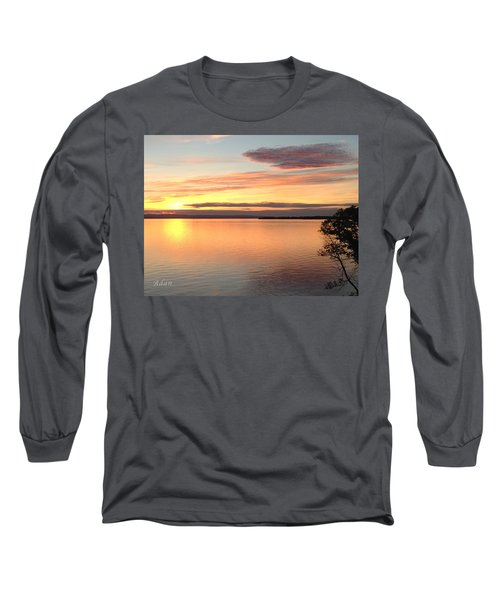 Vermont Sunset, Lake Champlain Long Sleeve T-Shirt by Felipe Adan Lerma