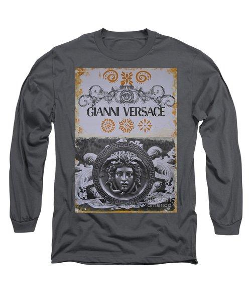 Versace Logo Long Sleeve T-Shirt