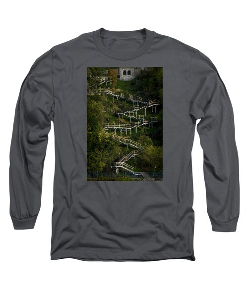 Vertical Stairs Long Sleeve T-Shirt by Celso Bressan
