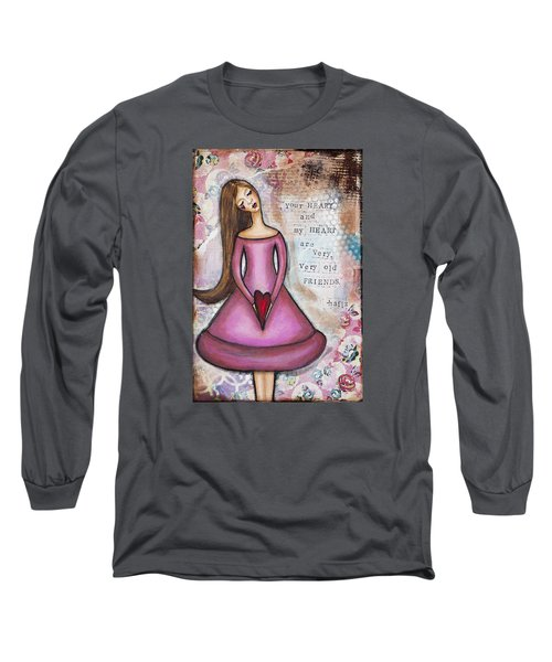 Long Sleeve T-Shirt featuring the mixed media Very Very Old Friend by Stanka Vukelic