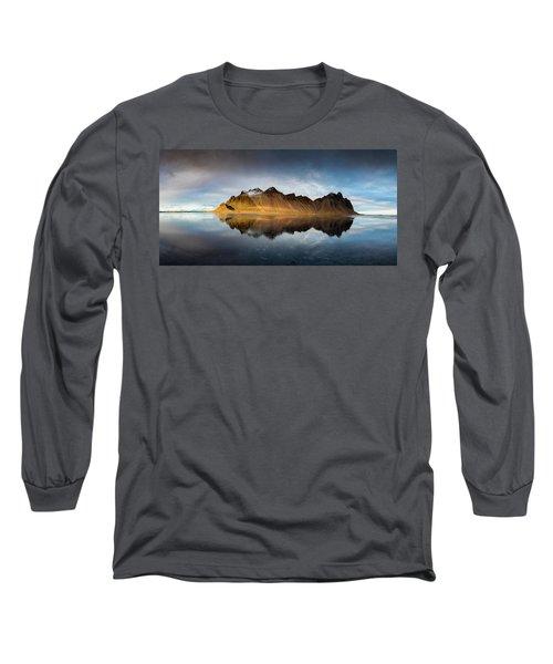 Long Sleeve T-Shirt featuring the photograph Vestrahorn Panao by Allen Biedrzycki
