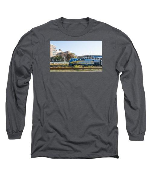 Via Rail Toronto Ontario Long Sleeve T-Shirt by John Black