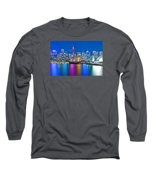 Vibrant Darling Harbour Long Sleeve T-Shirt