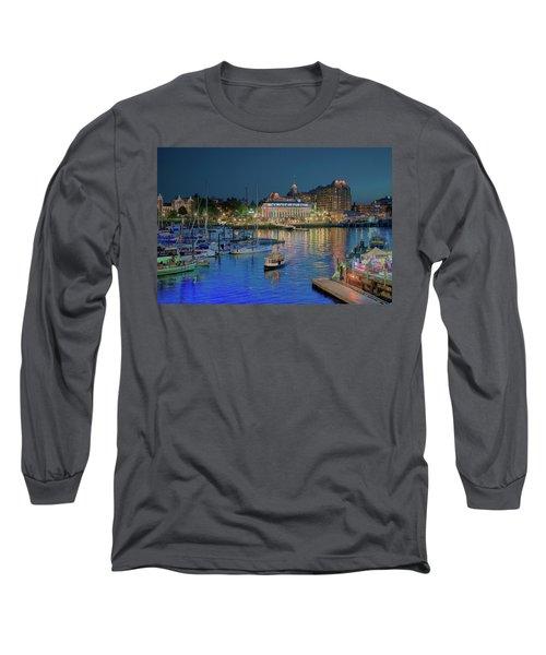 Victoria At Night Long Sleeve T-Shirt