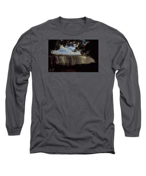 Long Sleeve T-Shirt featuring the photograph Victoria Falls, Zimbabwe by Travel Pics