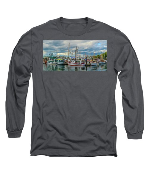 Victoria Harbor Boats Long Sleeve T-Shirt
