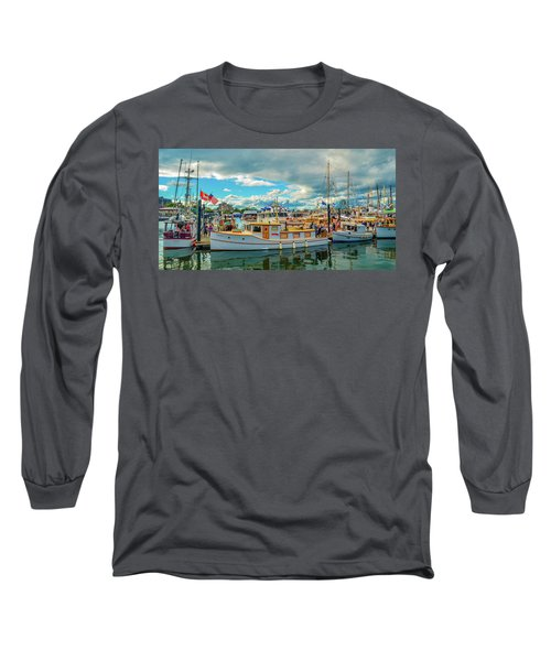 Victoria Harbor Old Boats Long Sleeve T-Shirt