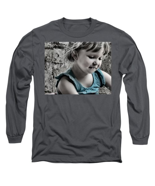 Victoria In Blue Long Sleeve T-Shirt