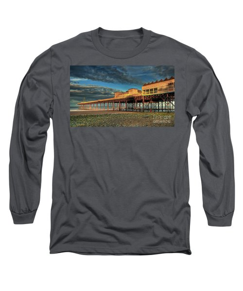 Long Sleeve T-Shirt featuring the photograph Victoria Pier 1899 by Adrian Evans
