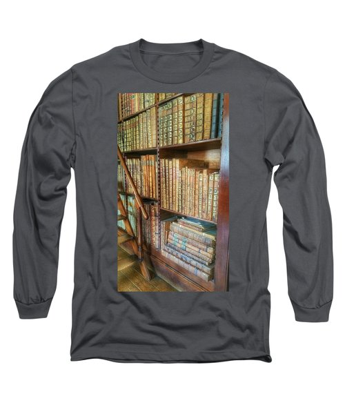 Victorian Library Long Sleeve T-Shirt by Isabella F Abbie Shores FRSA