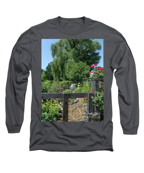 Victory Garden Lot And Willow Tree, Boston, Massachusetts  -30958 Long Sleeve T-Shirt