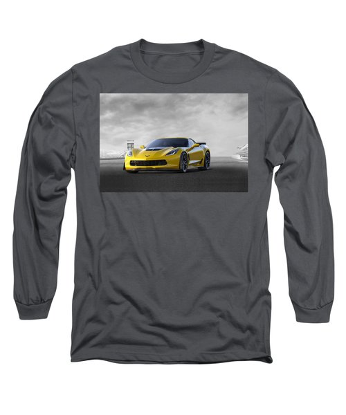Long Sleeve T-Shirt featuring the digital art Victory Yellow  by Peter Chilelli