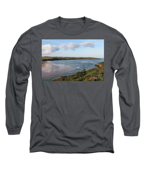 Long Sleeve T-Shirt featuring the photograph View Across The Gannel Estuary by Nicholas Burningham