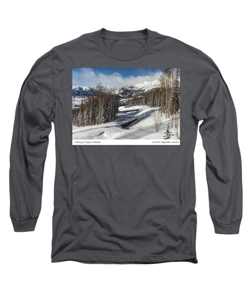 Long Sleeve T-Shirt featuring the photograph View From A Mountain Above Telluride In Colorado by Carol M Highsmith