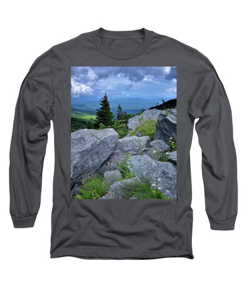 View From Grandfather Mtn Nc Long Sleeve T-Shirt by Steve Hurt