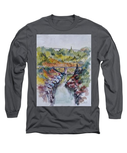 View From No Hands Bridge Long Sleeve T-Shirt by William Reed