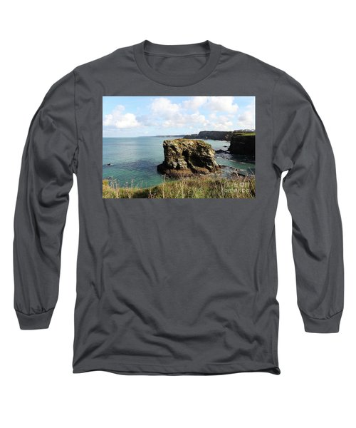 Long Sleeve T-Shirt featuring the photograph View From Porth Peninsula by Nicholas Burningham