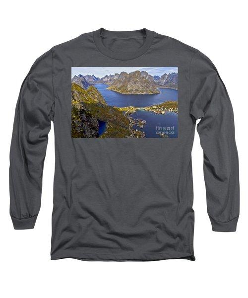 View From Reinebringen Long Sleeve T-Shirt by Heiko Koehrer-Wagner
