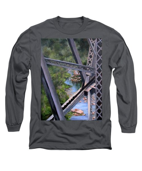 View From The Bridge--sedona, Az Long Sleeve T-Shirt by Mary McCullah