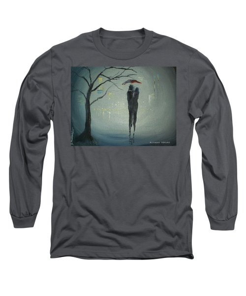 Long Sleeve T-Shirt featuring the painting View Of The City by Raymond Doward