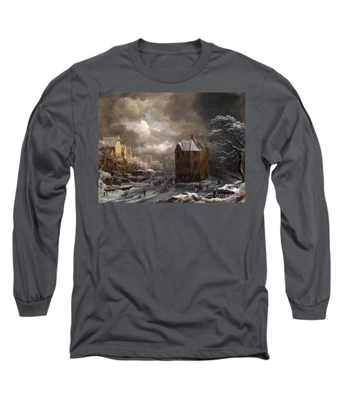 View Of The Hekelveld, Amsterdam, In Winter, Looking South Long Sleeve T-Shirt