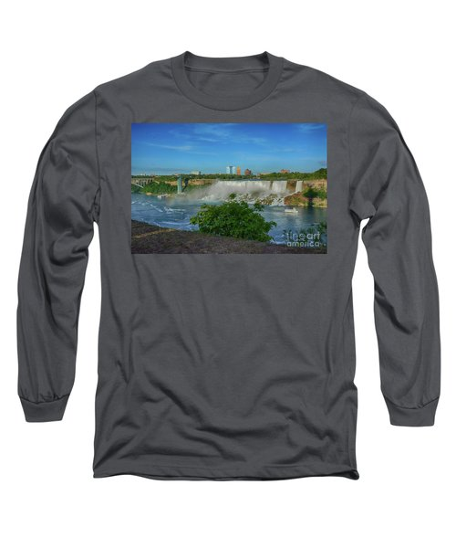 View Of Usa From Canada Long Sleeve T-Shirt