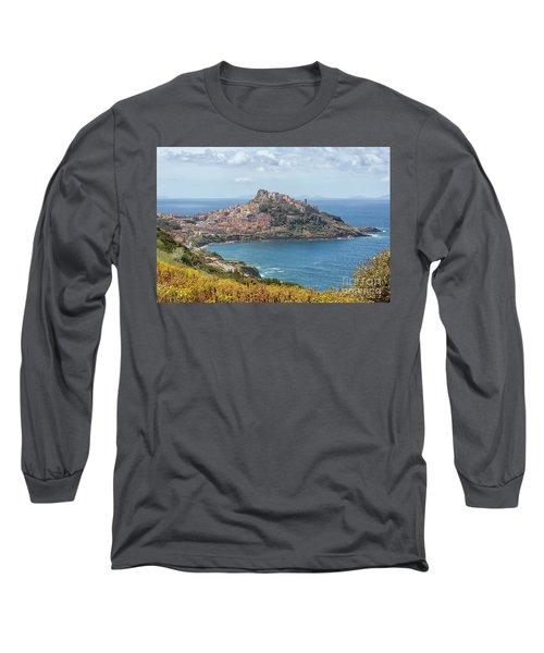 View On Castelsardo Long Sleeve T-Shirt by Patricia Hofmeester