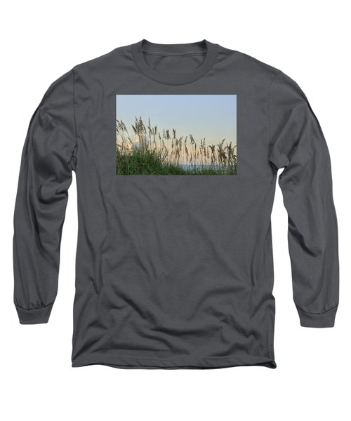 View Through The Sea Oats Long Sleeve T-Shirt by Bradford Martin