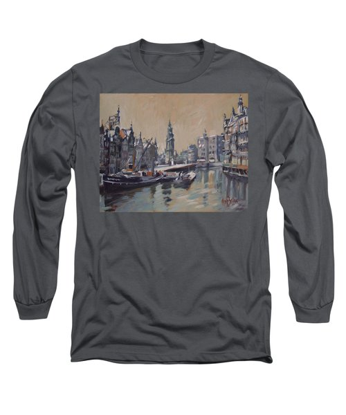 View To The Mint Tower Amsterdam Long Sleeve T-Shirt by Nop Briex