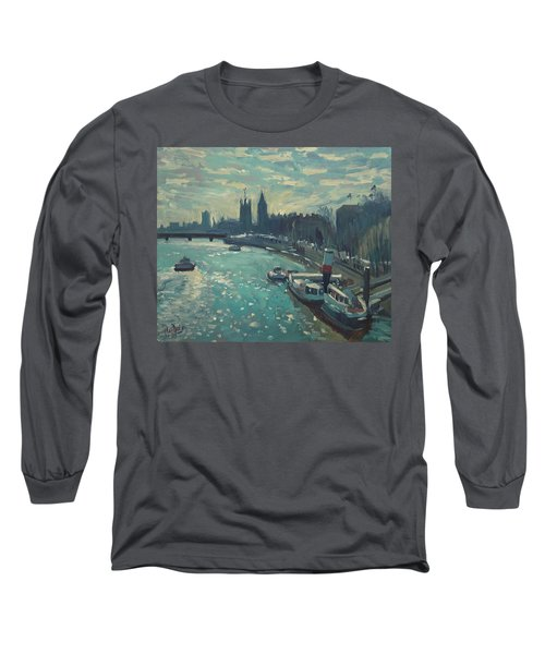 View To Westminster London Long Sleeve T-Shirt