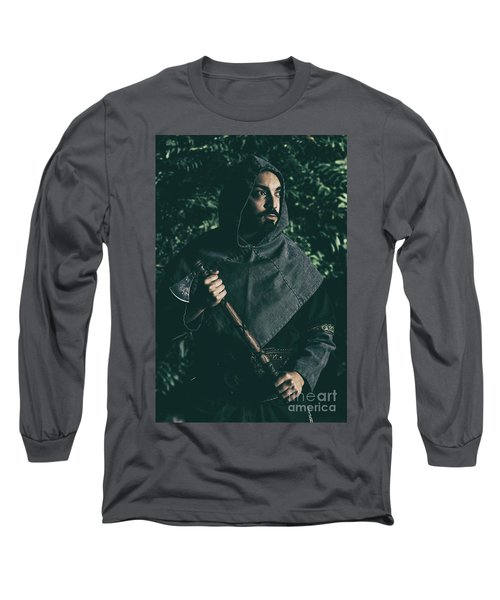 Viking Man With Axe Long Sleeve T-Shirt