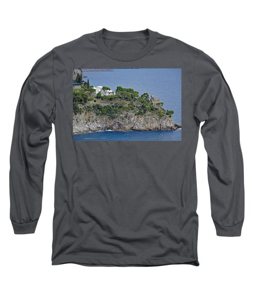 Villa Owned By Sophia Loren On The Amalfi Coast In Italy Long Sleeve T-Shirt by Richard Rosenshein