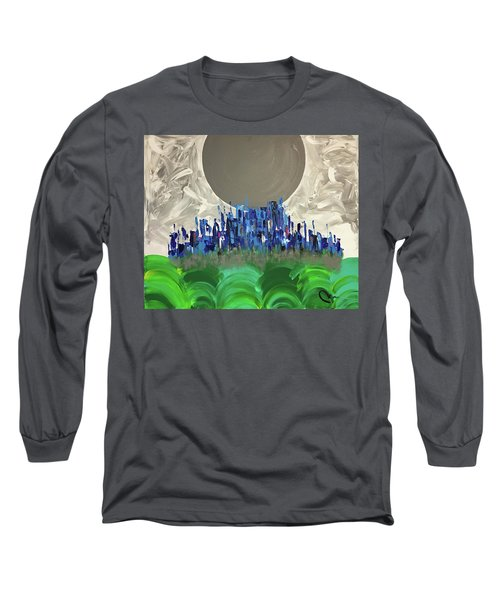 Village In The Meadow Long Sleeve T-Shirt
