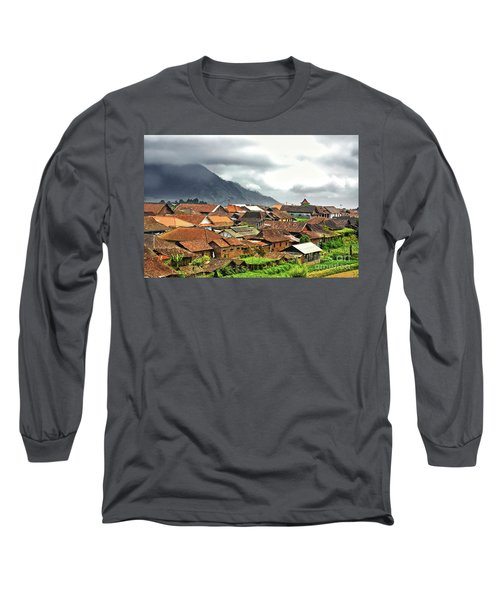 Long Sleeve T-Shirt featuring the photograph Village View by Charuhas Images