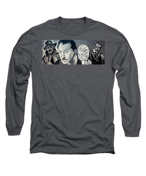 Long Sleeve T-Shirt featuring the painting Vincent Price by Paul Weerasekera