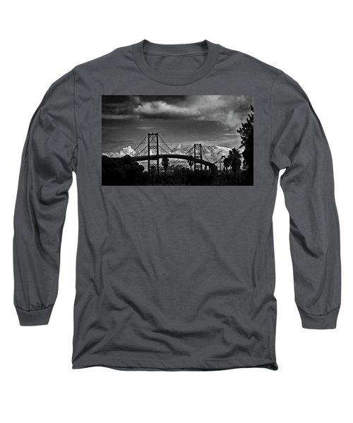Long Sleeve T-Shirt featuring the photograph Vincent Thomas Bridge by Joseph Hollingsworth