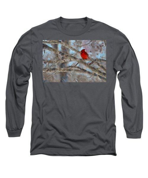 Long Sleeve T-Shirt featuring the mixed media Vincent by Trish Tritz