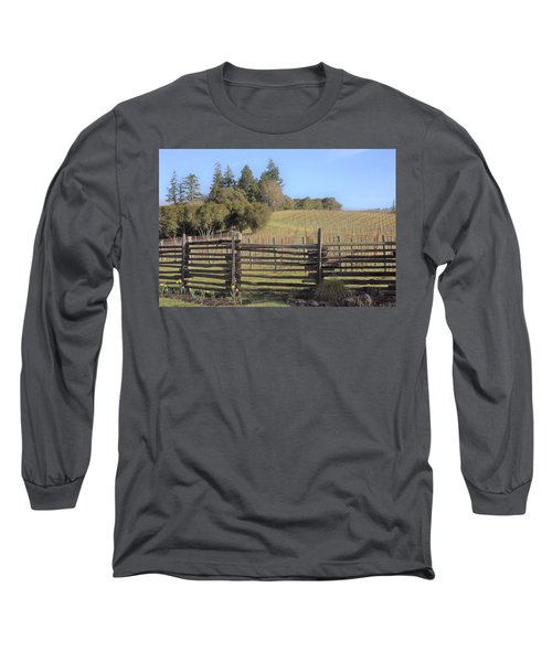 Vineyard In The Spring Long Sleeve T-Shirt