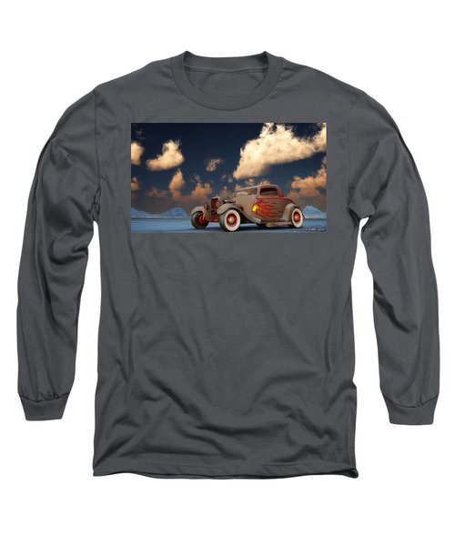 Vintage American Hot Rod Long Sleeve T-Shirt by Ken Morris