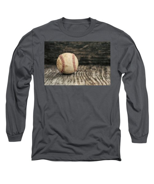 Vintage Baseball Long Sleeve T-Shirt by Terry DeLuco