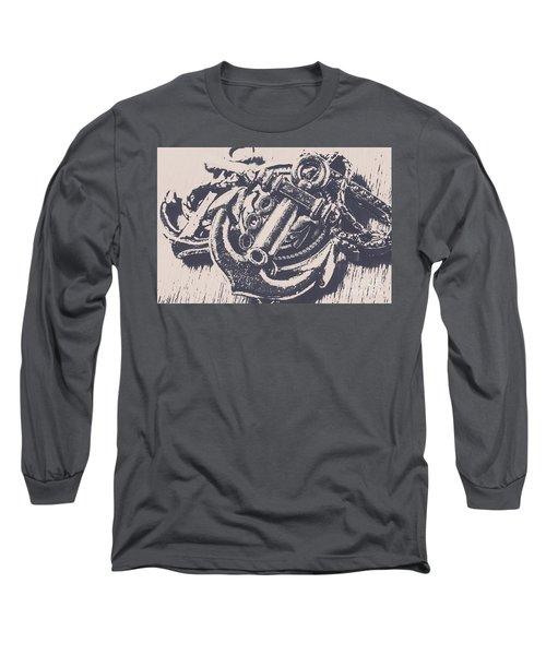Vintage Boating Anchor Long Sleeve T-Shirt