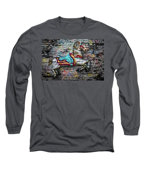 Long Sleeve T-Shirt featuring the photograph Vintage Carousel Horse by Michael Arend
