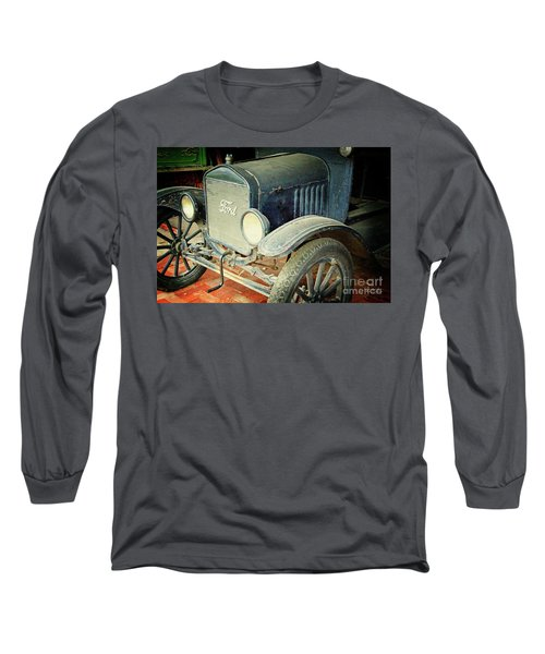 Vintage Ford Long Sleeve T-Shirt by Inspirational Photo Creations Audrey Woods