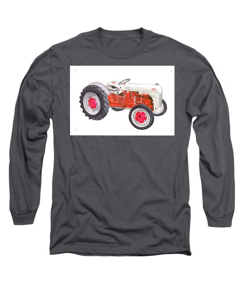 Long Sleeve T-Shirt featuring the painting Vintage Ford Tractor 1941 by Jack Pumphrey