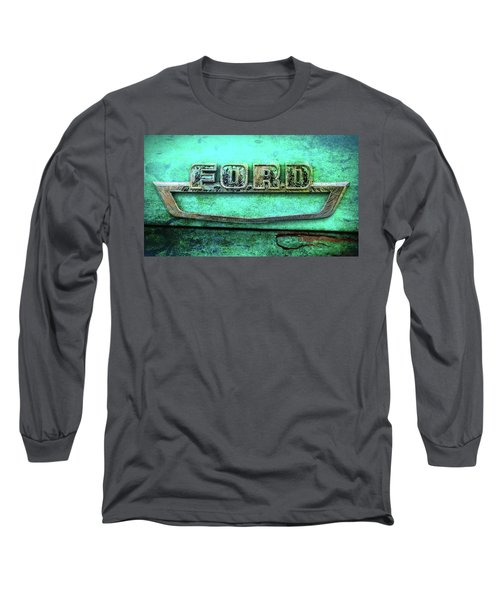 Vintage Ford Truck Logo  Long Sleeve T-Shirt by Terry DeLuco