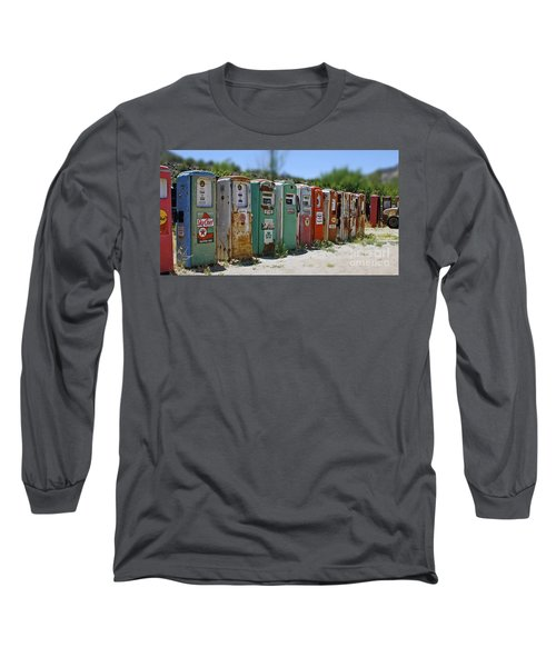 Vintage Gas Pumps Long Sleeve T-Shirt