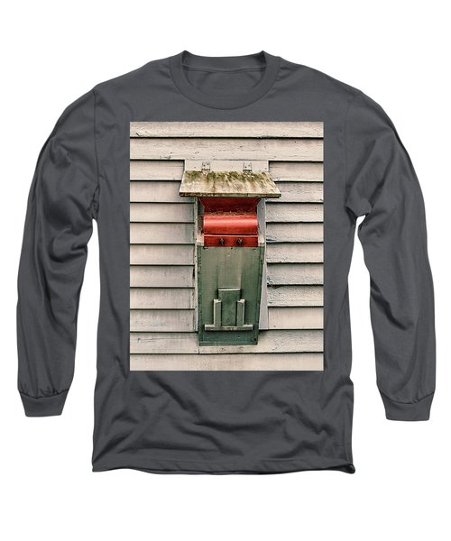 Long Sleeve T-Shirt featuring the photograph Vintage Mailbox by Gary Slawsky