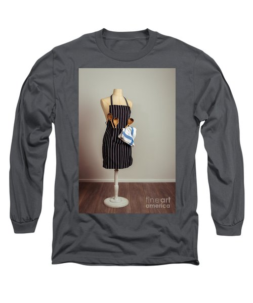 Vintage Mannequin With Kitchen Utensils Long Sleeve T-Shirt